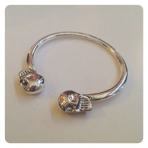 HALF OFF SALE | Silver Skull Bangle