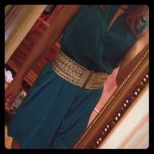Betsey Johnson Accessories - Betsey Johnson Waist Belt + Emerald Dress