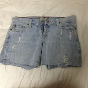 Light blue denim American Eagle shorts