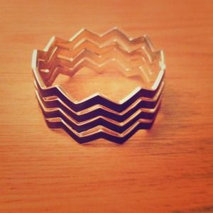 Chevron Stacked Bangles