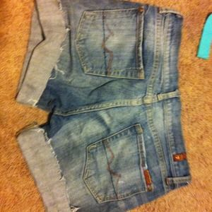 7 For All Mankind Cut-Off Shorts
