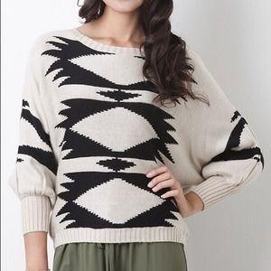 Sweaters - Dolman style Aztec sweater