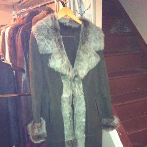 27% off Outerwear - Italian full length shearling coat from ...