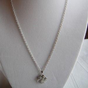 Jewelry - Crystal Stud Paw Necklace & Charm Set. Brand New.