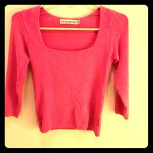 cotton emporium Sweaters - RESERVED! Beautiful 3/4 sleeve pink sweater M