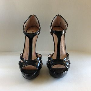 Patent Leather T-Strap heels