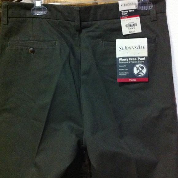 b28a363fcc St John Bay Pants   Mens Worry Free Pant 33x32 Reduced   Poshmark