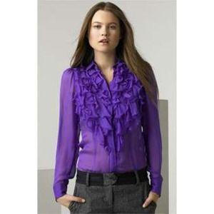 [D & G]ruffle front blouse