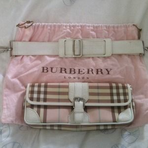 Burberry Pink Candy Check Purse/Clutch