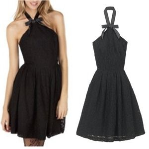 Rodarte Black Lace Dress
