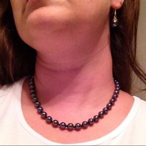 Jewelry - Hematite Bead Necklace and Earring Set