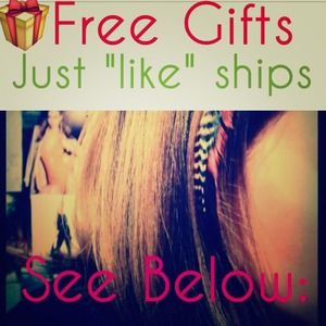 """FREE gifts with orders below, just press """"like"""""""