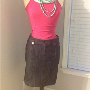 Anthropologie Dresses & Skirts - **SOLD**. Anthropologie denim skirt