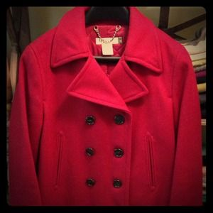 J. Crew Outerwear - Red Jcrew peacoat with thinsulate