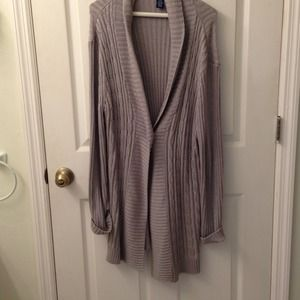 Sweaters - Long grey sweater that sparkles. Size 16