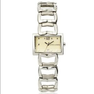 Mila Schon Jewelry - Last Day! Mila Schon1004L/04M Sil/Beige Stainless