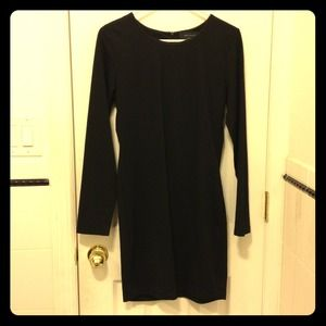 Zara little black dress. Stretchy. Size large.