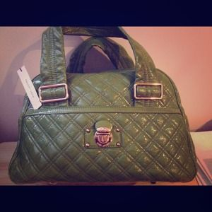 Marc Jacobs Quilted Patent Leather Bowler Bag, NWT