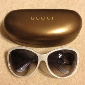 Gucci Accessories - GUCCI PEARL WHITE SUNGLASSES