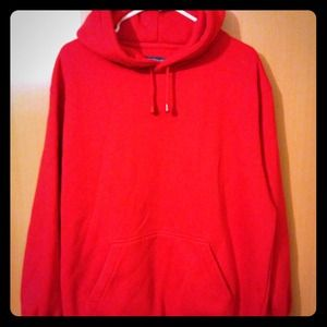 Jackets & Blazers - RENEGADE Bright Red Long Oversized HOODY Top
