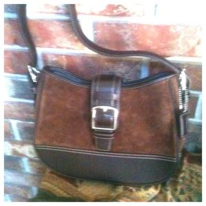 Handbags - RESERVED COACH brown Leather and Suede Bag Bundle