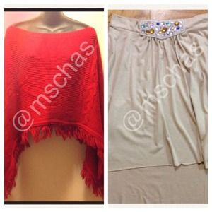 Accessories - Red Shawl & Skirt bundle