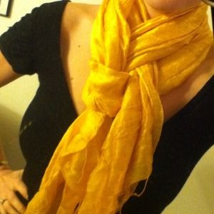 Accessories - Yellow Silk Scarf
