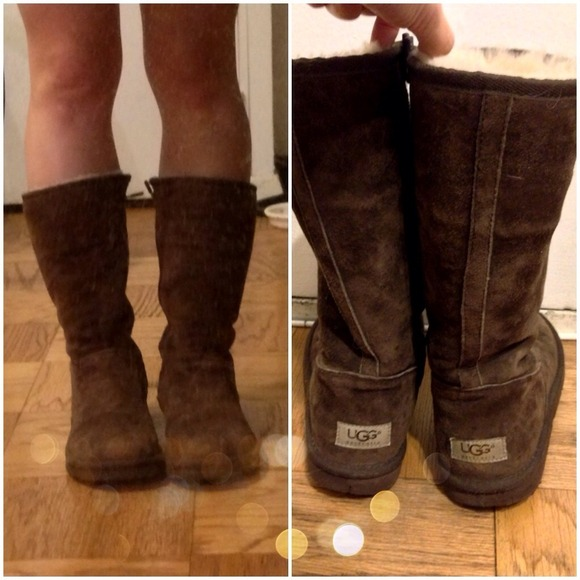 75 Off Ugg Boots Ugg Side Zip Boots In Chocolate Brown
