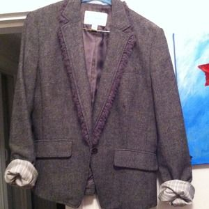 Banana Republic Jackets & Blazers - **On Hold** BR Grey Tweed Blazer