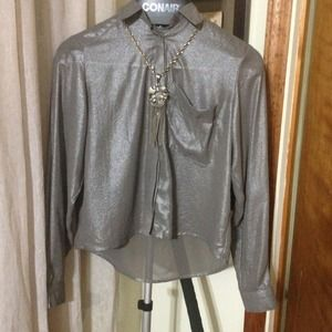 REDUCED! Metallic Button Down