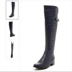 PA by Pilar Abril Boots - PA by Pilar Abril Corrine Boots in Navy