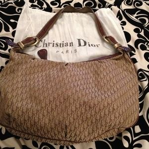 Christian Dior hobo handbag.