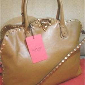 New 2012 Authentic Valentino 'Rockstud' Dome Bag
