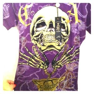 "Christian audigier Tops - Christian Audigier ""CHARMED LIFE"""