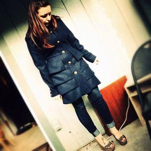 BB Dakota Jackets & Blazers - Navy Coat