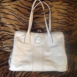 Coach Handbags - Coach cream patent leather authentic handbag