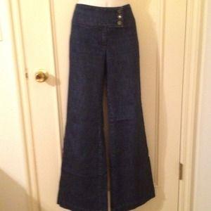 Worn1x sz4 ny&co dark denim wide leg trouser jean