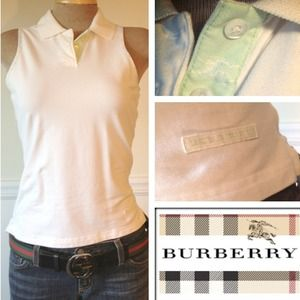 Burberry sleeveless polo