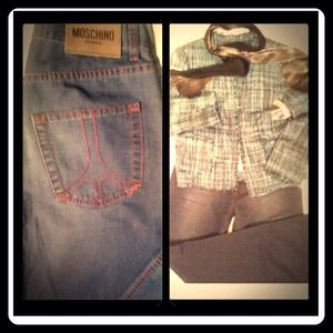 N.N.W.T'S Vintage Peace Sign Jean By Moschino