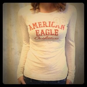 American Eagle Outfitters Tops - Small Oatmeal-colored long sleeve tee