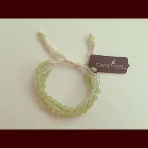 """SOLDLovely Celadon Glass Beads """"Neelie"""" Bracelet"""