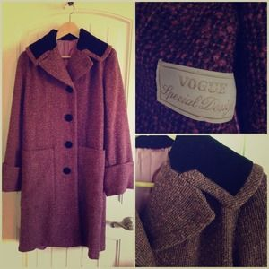 Vintage (50s) Vogue Tweed Coat (Mad Men like)