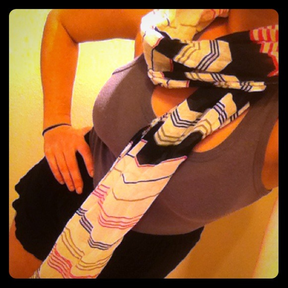 Roxy Accessories - RESERVED💋💋ROXY printed scarf with fringe edges.