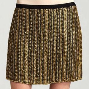🆕 Theory cocktail evening skirt brass 6 party