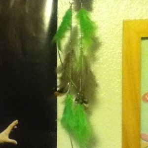Feather earrings(: