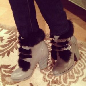Shoes - See by Chloe Fur and leather boots
