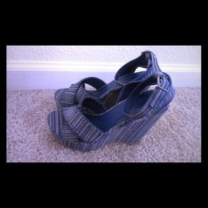 Bucco - Blue Piana Wedge Sandal