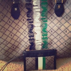 L.A.M.B handbag with matching wristlet