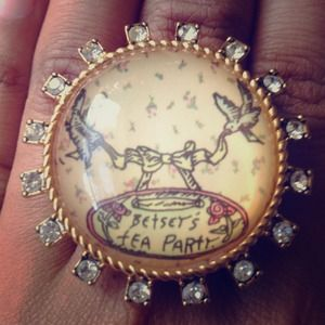 Betsey Johnson Jewelry - Betsey Johnson Tea Party Ring
