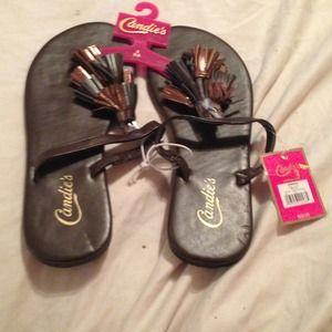 🌷5 for $25 Brown candies flip flops